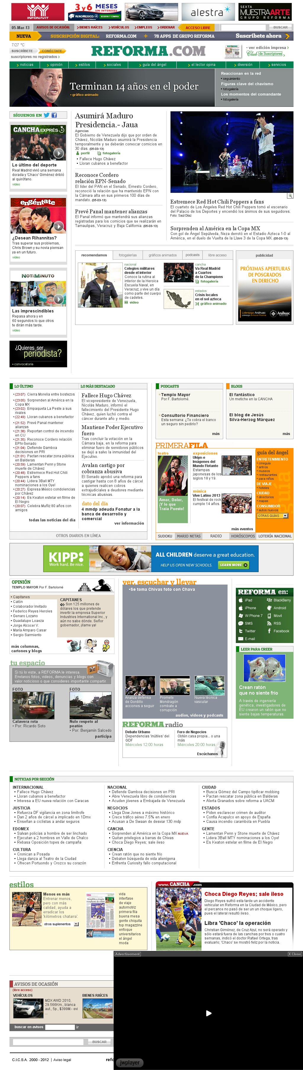 Reforma.com at Wednesday March 6, 2013, 6:17 a.m. UTC