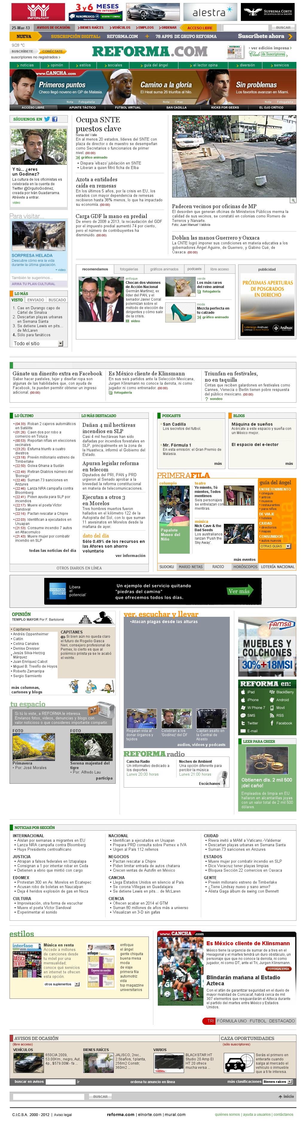 Reforma.com at Monday March 25, 2013, 11:40 a.m. UTC