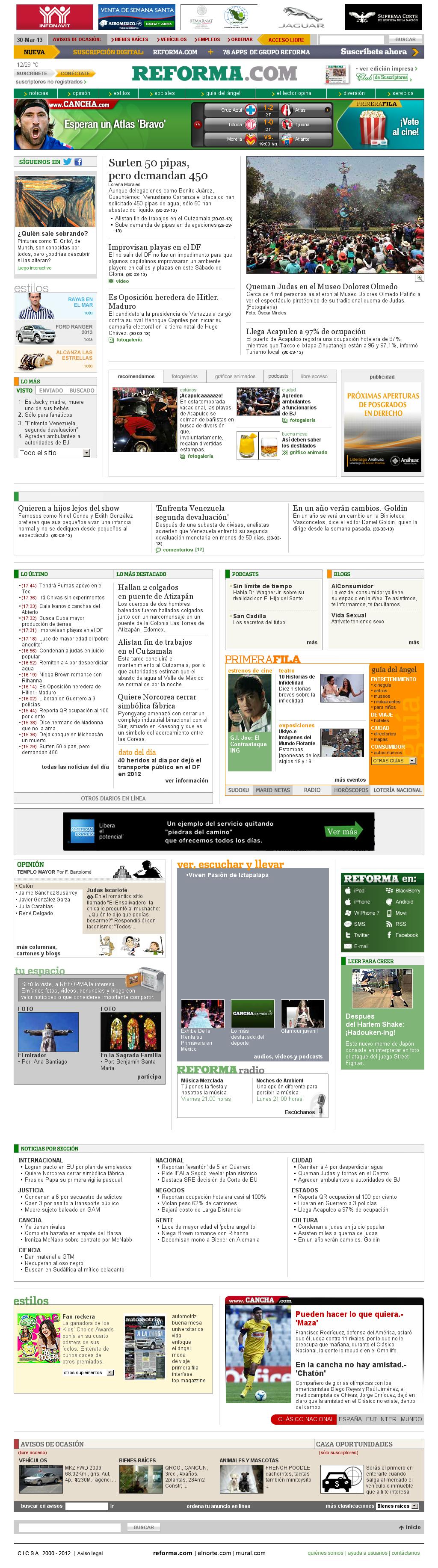 Reforma.com at Sunday March 31, 2013, 12:18 a.m. UTC