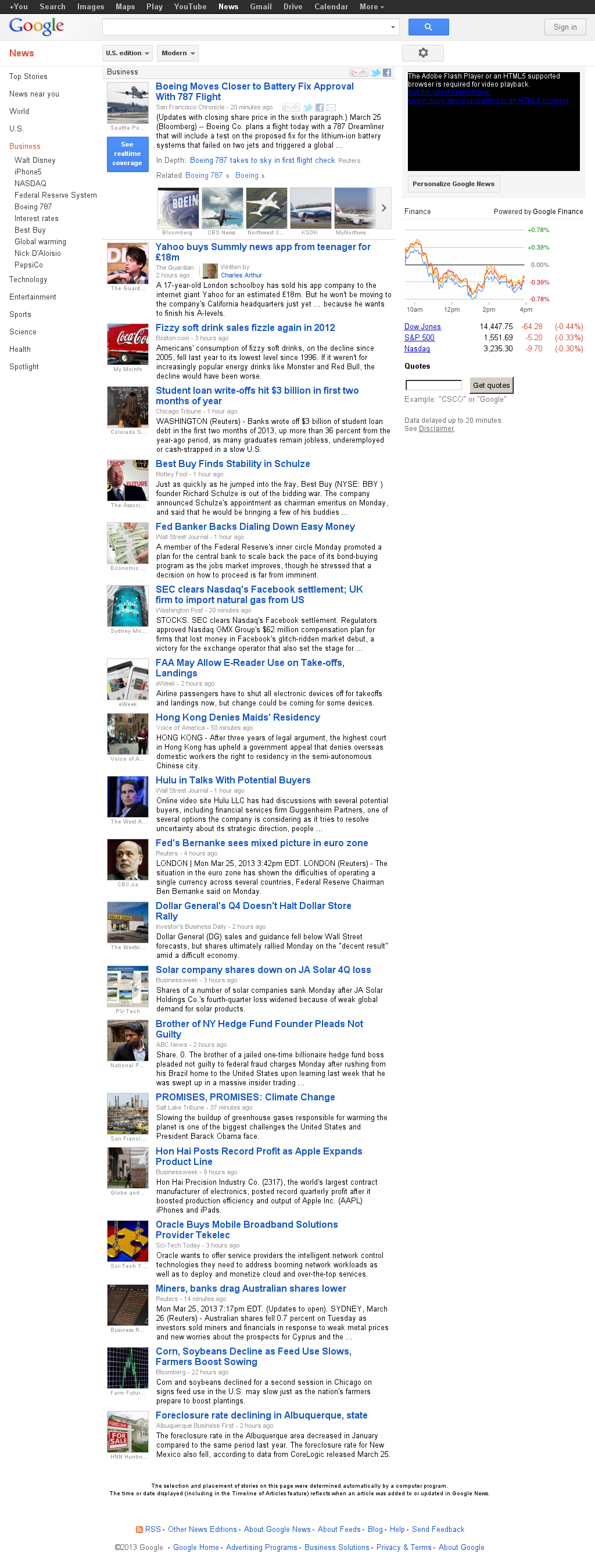 Google News: Business at Tuesday March 26, 2013, 12:15 a.m. UTC
