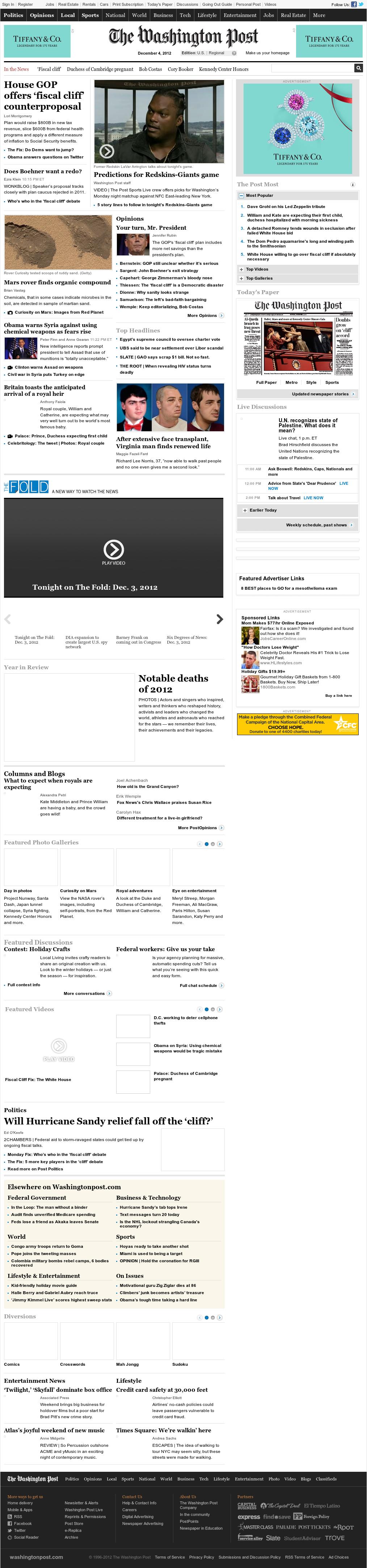 The Washington Post at Tuesday Dec. 4, 2012, 12:37 a.m. UTC