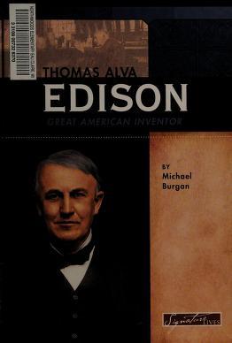 Cover of: Thomas Alva Edison   Michael Burgan